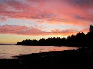 Roberts Creek sunset - © Gillian Knox - GillianKnox.com